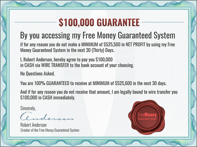 Free Money Guaranteed Scam Review