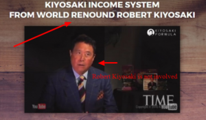 robert kiyosaki is not involved in this scam