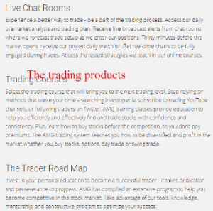 AMG Trading and Investments Trading products