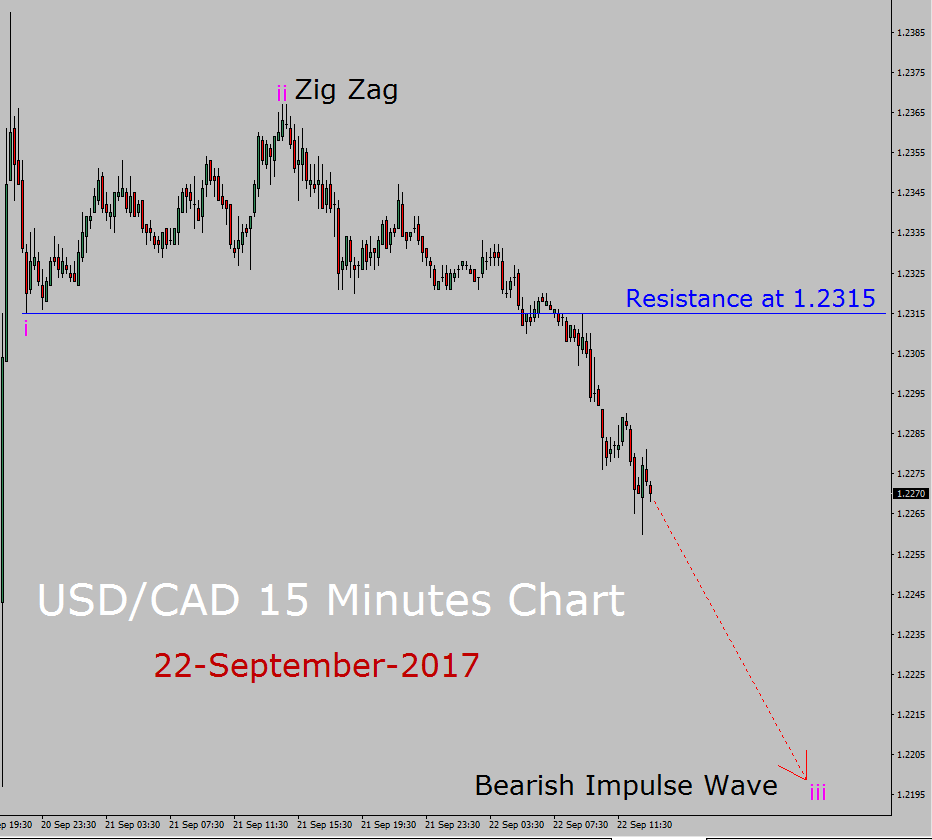 USD / CAD Elliott Wave Prognoza