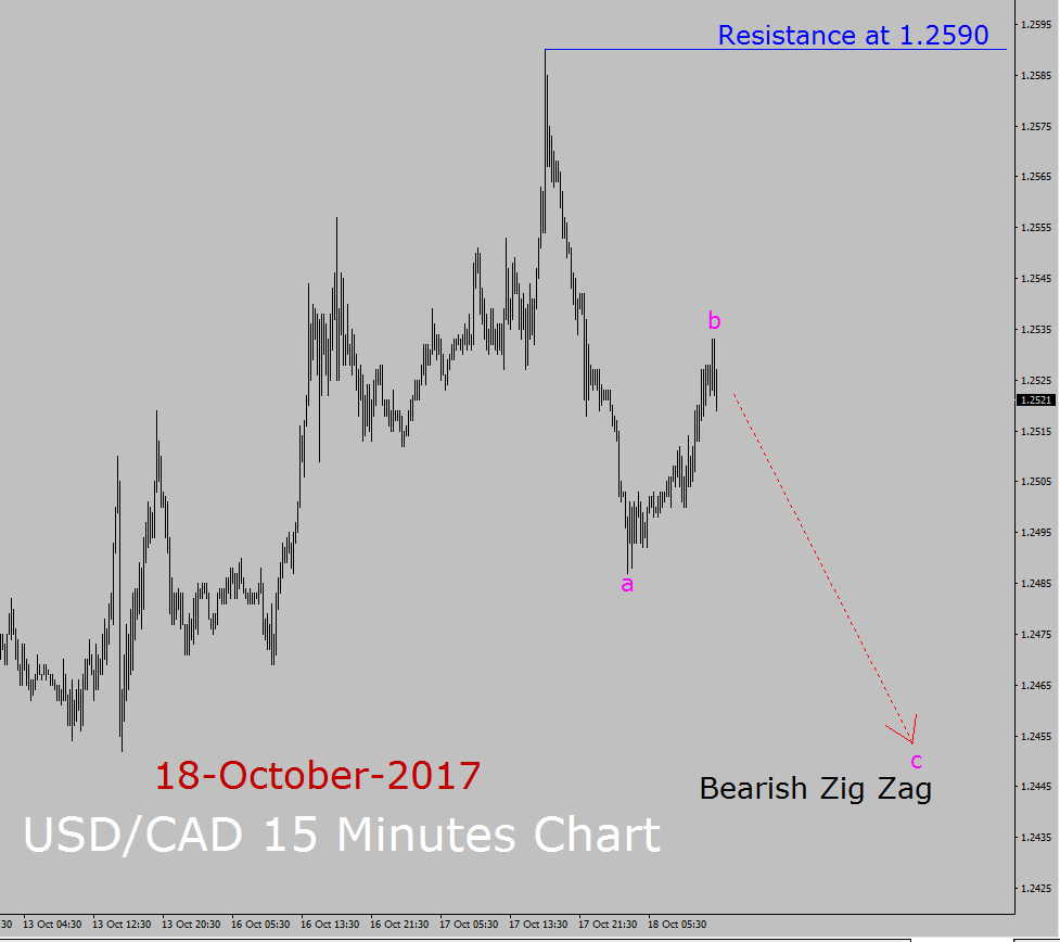 USD / CAD Elliott Wave Forecast