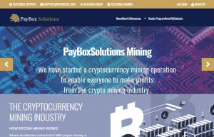Pay Box Solutions Limited التعدين Cryptocurrency