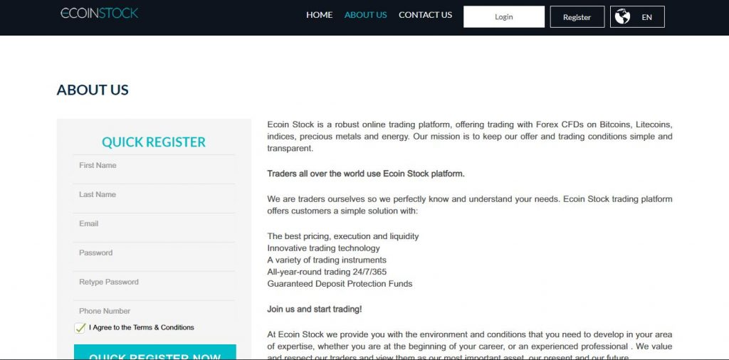 Ecoin Stock Scam