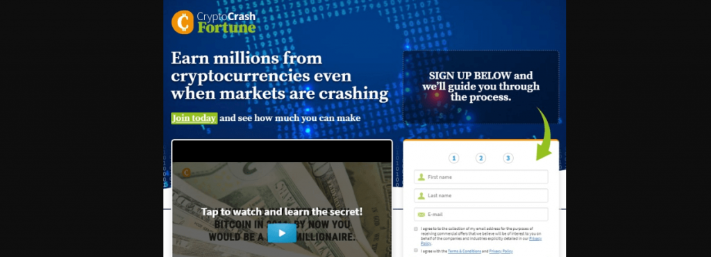 Recenzja Cryptocrashfortune.com, Platforma Crypto Crash Fortune