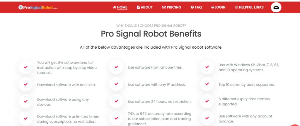 مراجعة Pro Signal Robot ، منصة Prosignalrobot.com