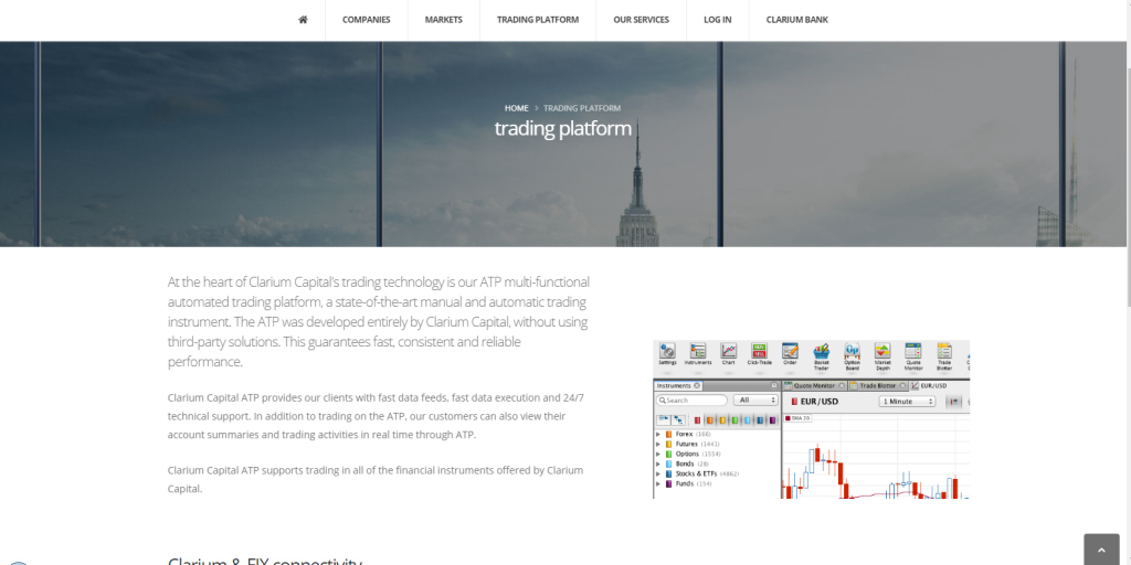 Clarium Capital Software Review