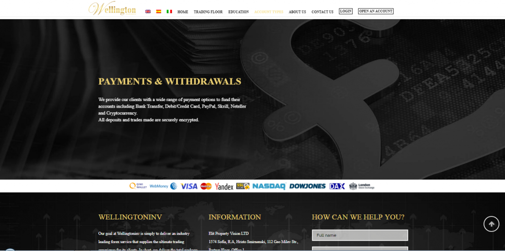 WellingtonInv Forex Review