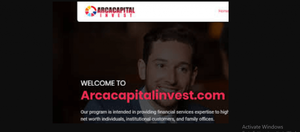 Arca Capital Invest Review, Arca Capital Invest Platform