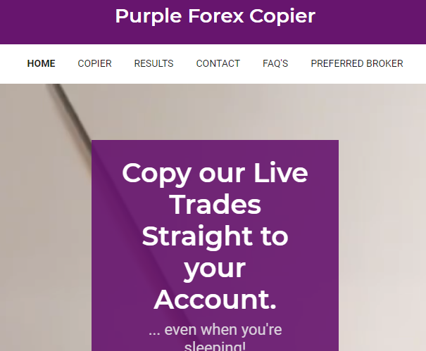 Purple Forex Copier Review, Purple Forex Copier Platform