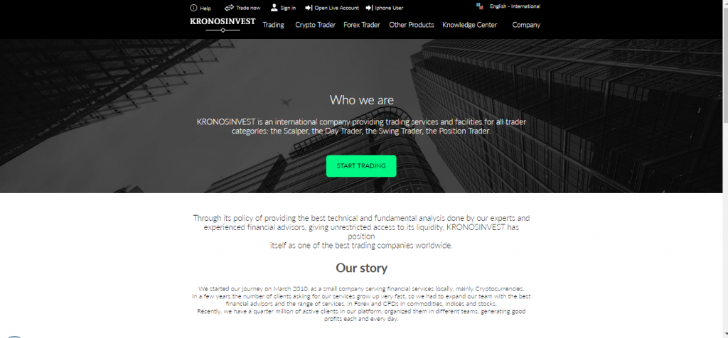 KronosInvest Crypto and Forex Review
