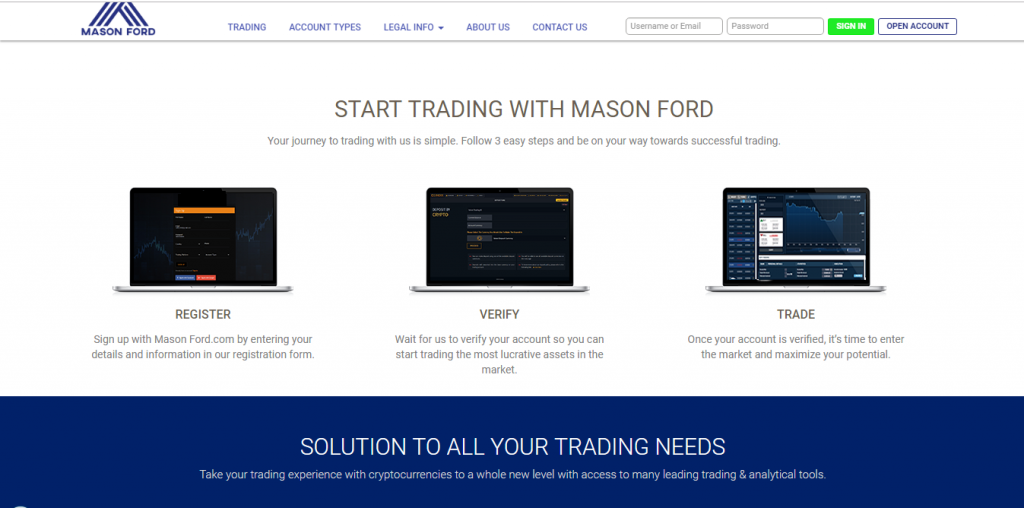 Mason Ford Crypto Currency and Forex Broker Review