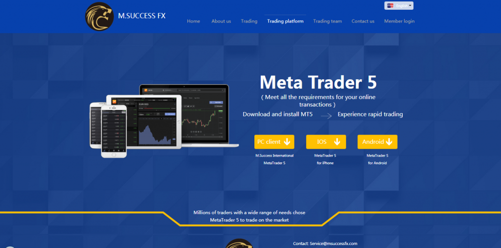 Revue de M.SUCCESS FX Crypto et Forex Broker