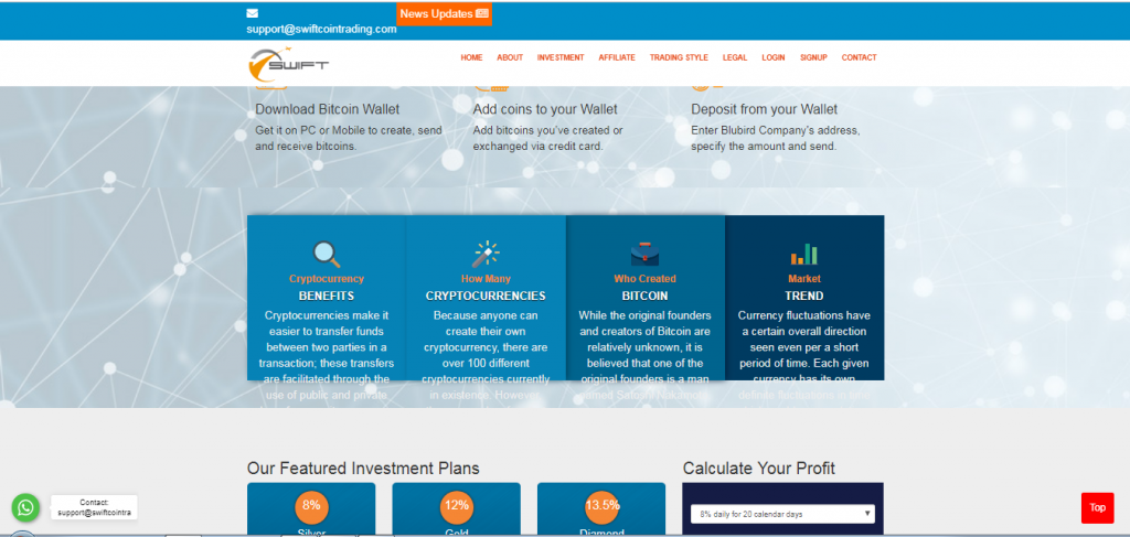 Swift Coin Trading Crypto and Forex Broker review