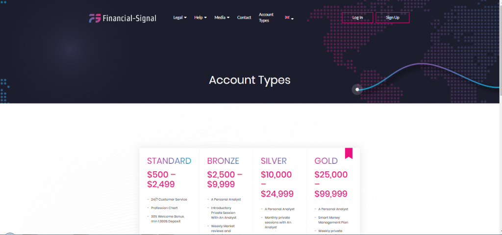 Financial Signal Account Types