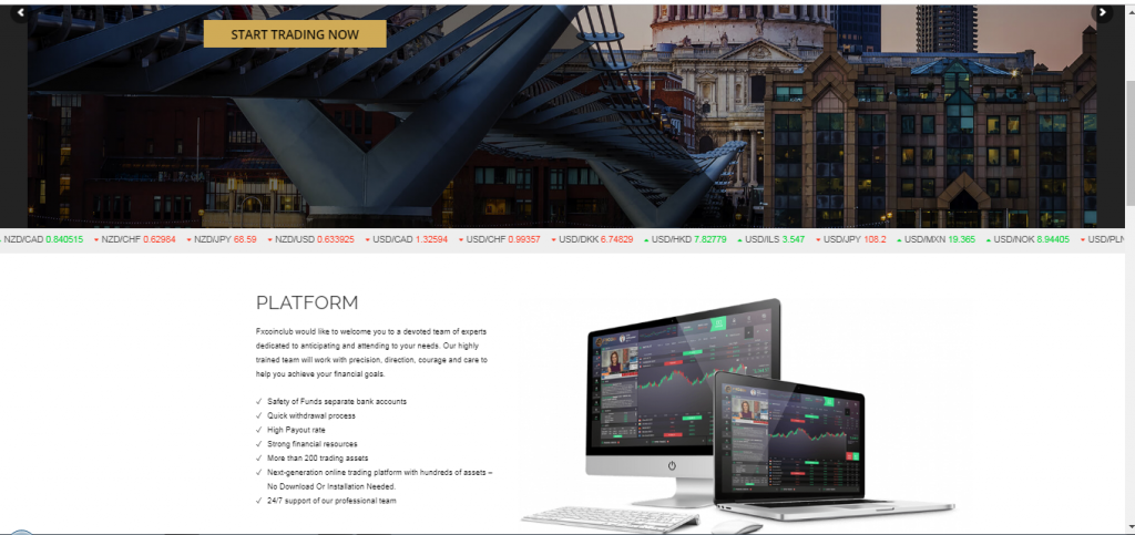 FXCoinClub Crypto Currency und Forex Broker Review
