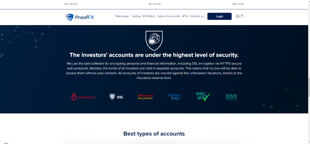 ProofFX Crypto e Forex Broker