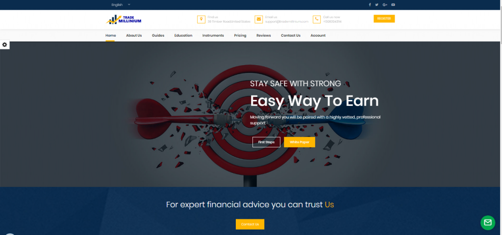 Trade Millinium Binary Options Crypto Currency and Forex Broker Review