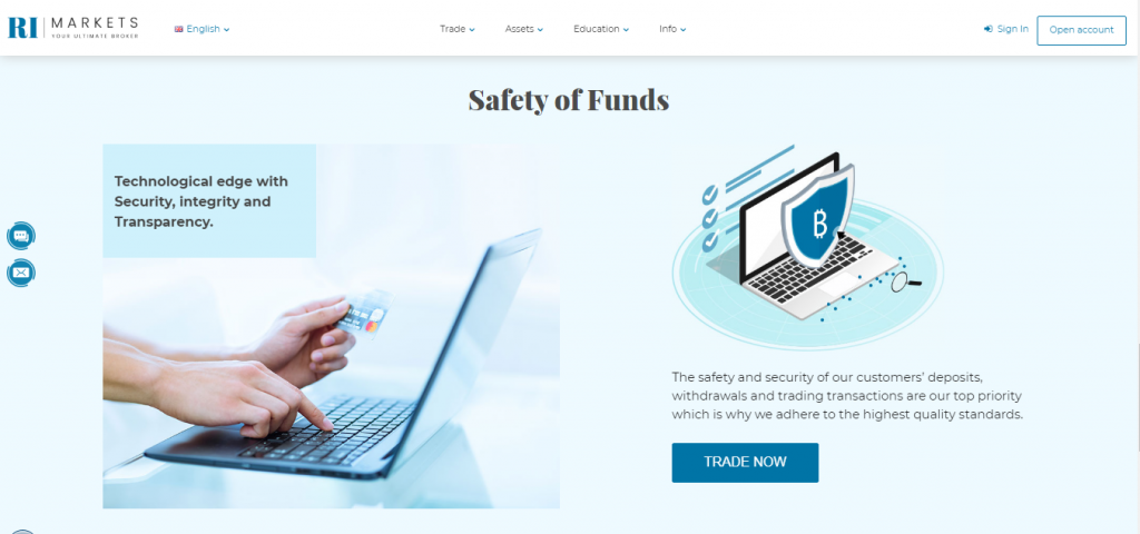 RIMarkets Safety of funds