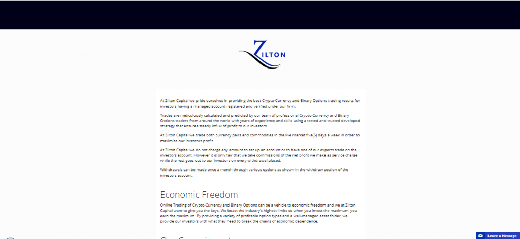 About Zilton Capital Crypto