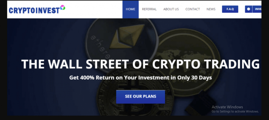 Crypto Invest Review, Cryptoinvest.is Platform