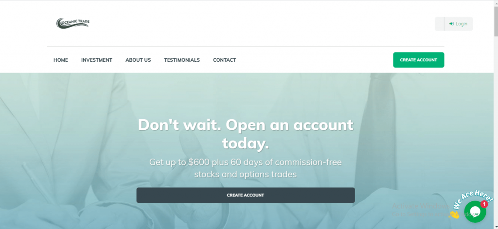 Oceanic Trades Review, Oceanic Trades Platform