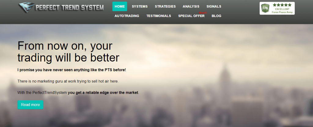 Perfect Trend System Review, Perfecttrendsystem.com Platform