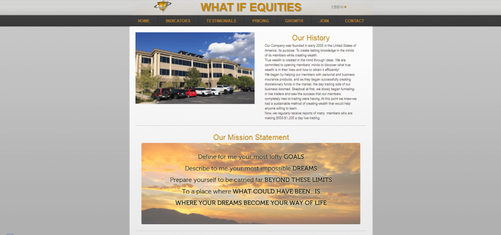 What if Equities Background and History
