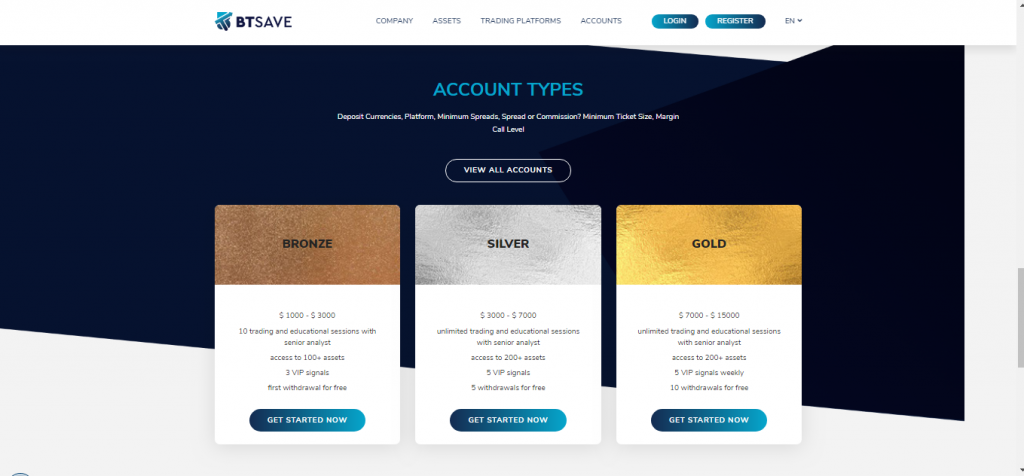 BTSave-accounts aangeboden