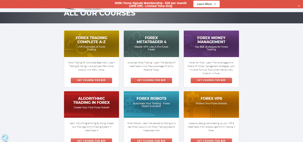 Forexboat Trading Academy Tous les cours