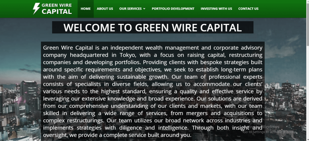 Green Wire Capital Review, Greenwirecapital.com Platform