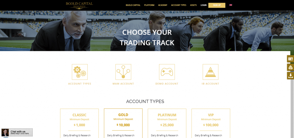 BGold Capital Account Details