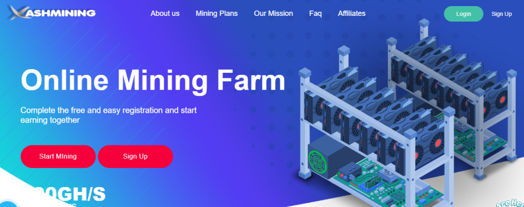 Xashmining.com Review, Xashmining.com website