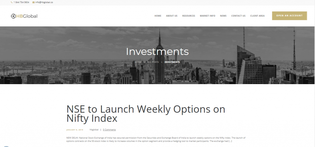 HB Global Options Page