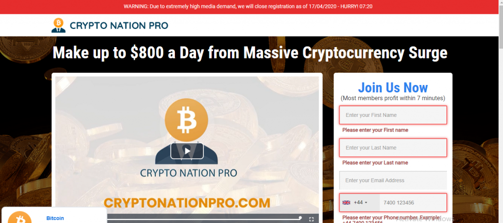Crypto Nation Pro Review, Crypto Nation Pro Platform