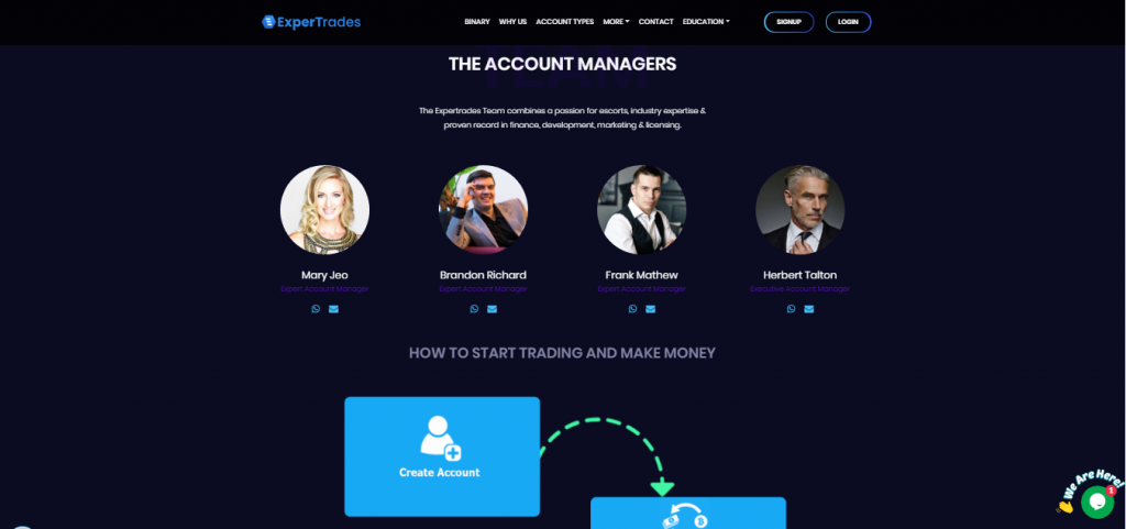 ExperTrades Valse accountmanagers