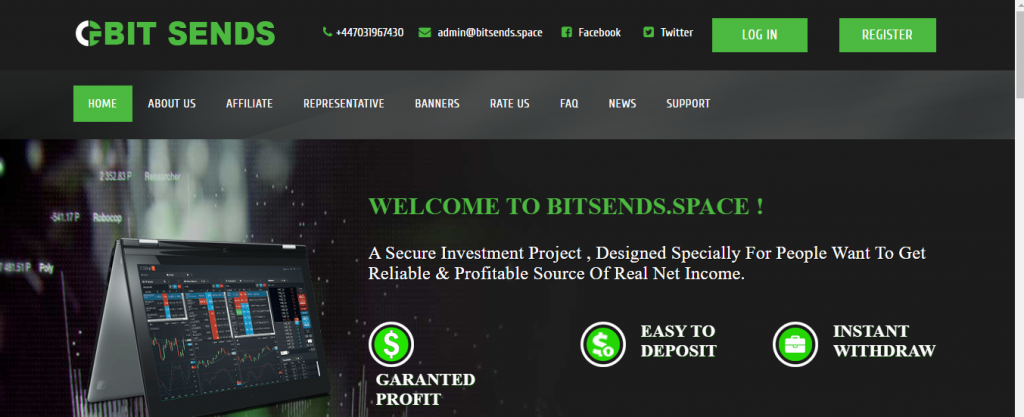 Bitsends.space Scam Review, Bitsends.space platform