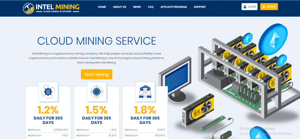 Intel-mining Scam Review, Intel-mining Platform