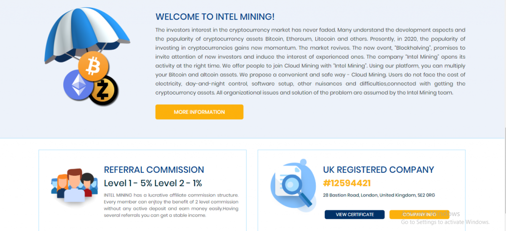 Intel Mining Review, Intel Mining Referral