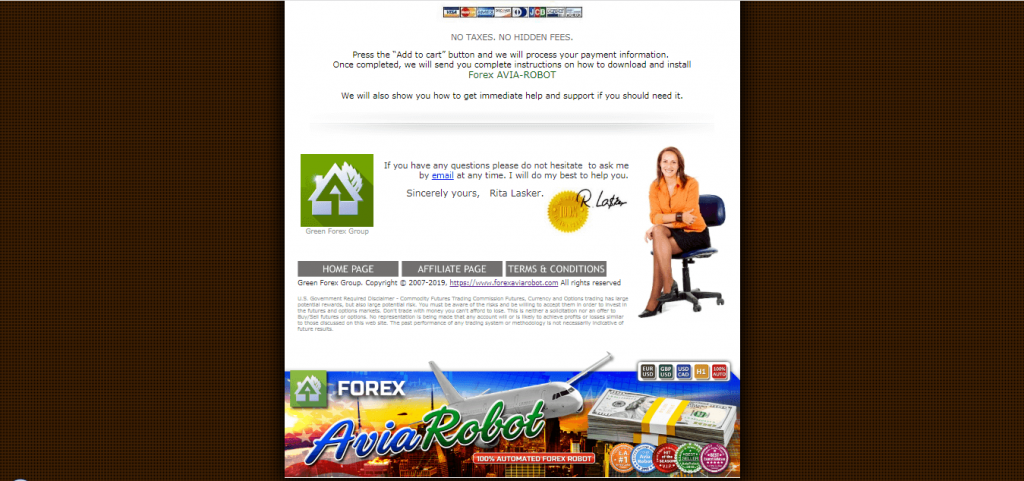 Contact et assistance Forex Avia Robot