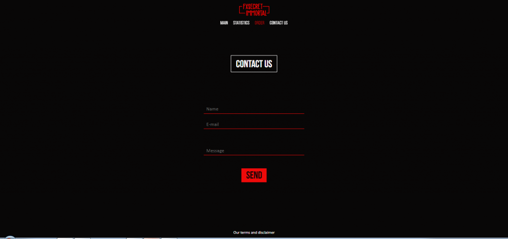FX Secret Immortal Contact Page