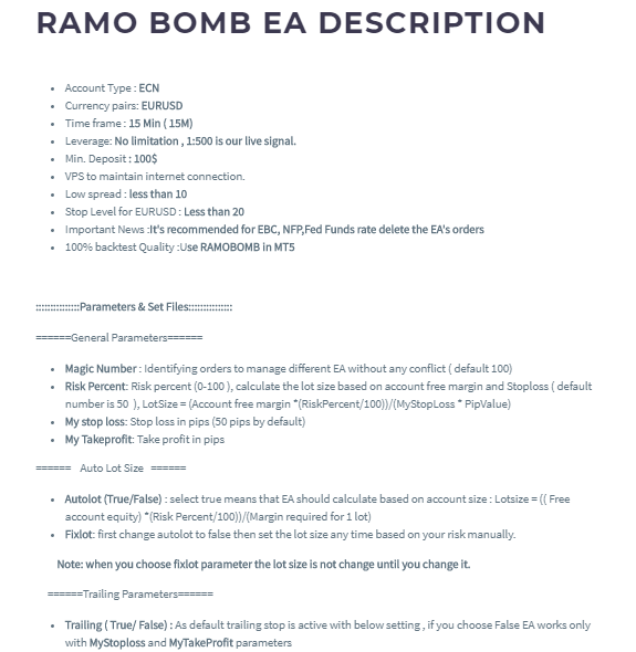 Ramo Bomb Features