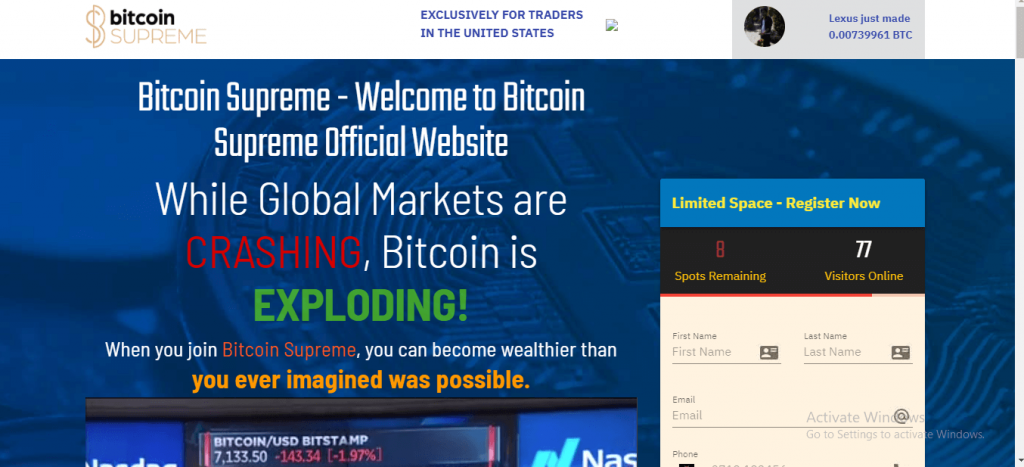 Bitcoin Supreme Review, Bitcoin-supreme.com Platform
