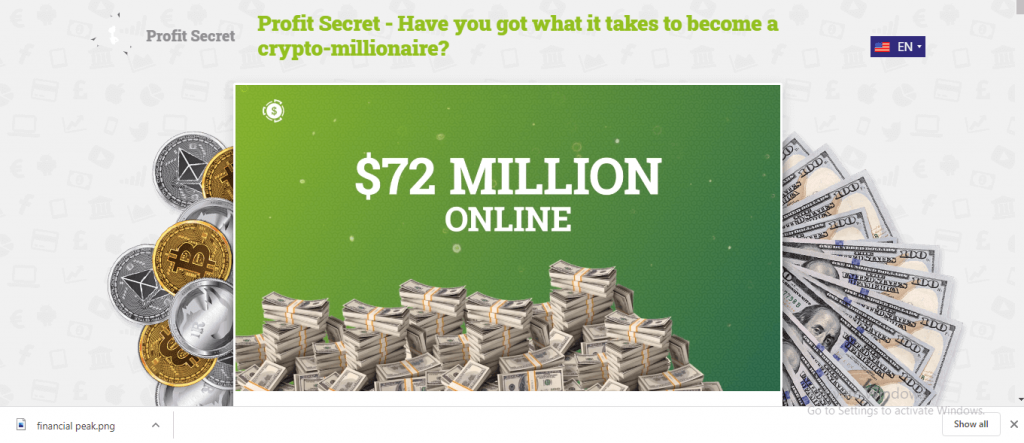 Profit Secret Review, Profit-secret.com-Plattform