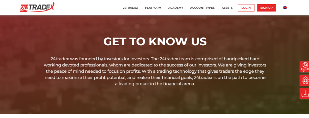 24Tradex Review, sitio web 24Tradex.com