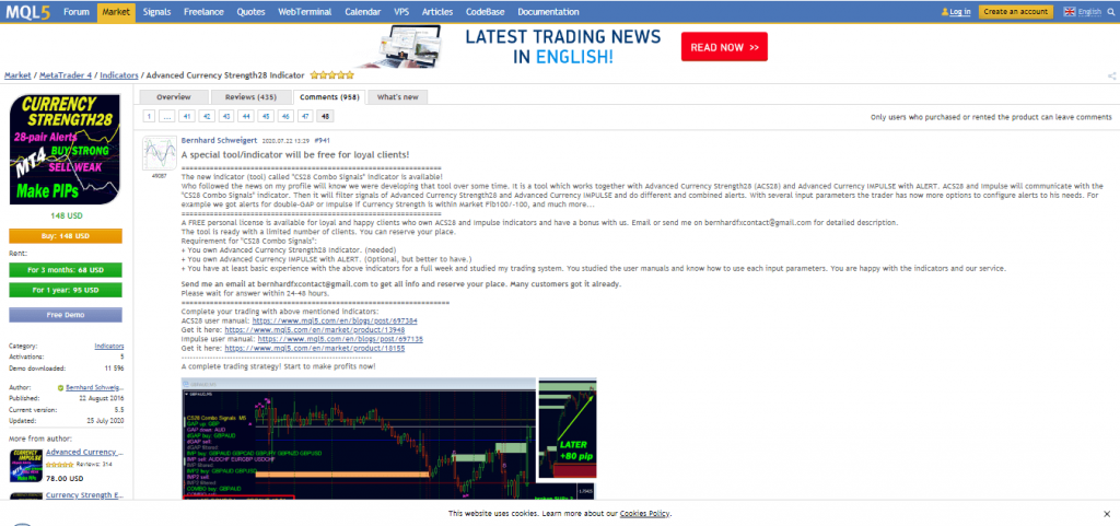 Advanced Currency Strength28 Indicatore Performance di trading