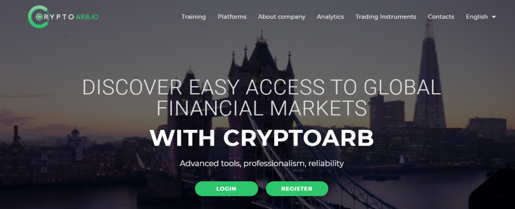 Cryptoarb.io Review, Cryptoarb Platform
