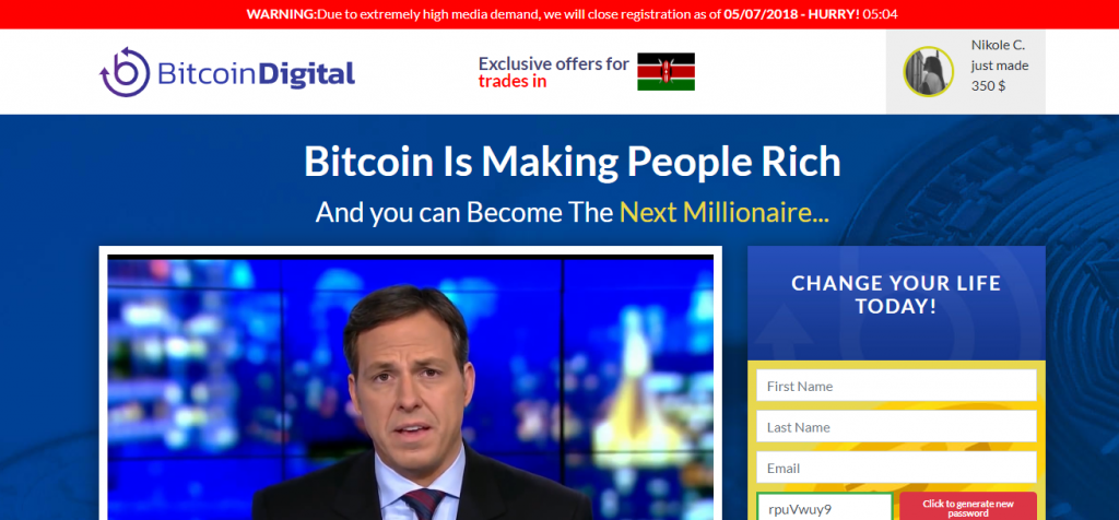 Bitcoin Digital Review, Bitcoin Digital Website