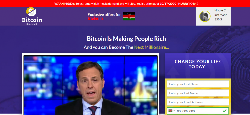 Bitcoin SuperSplit  Review, Bitcoin SuperSplit Company