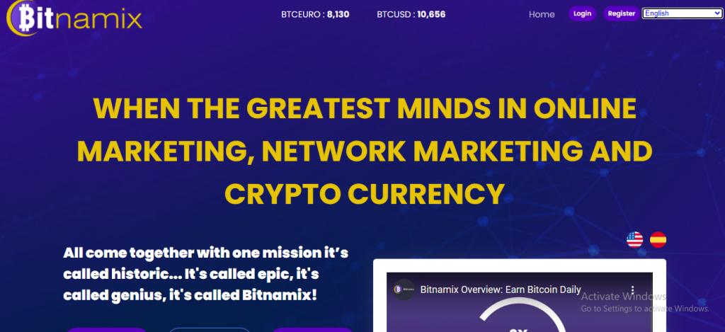 Bitnamix Review, Bitnamix-Website