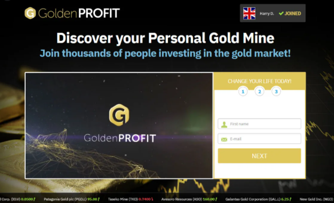Golden Profits Review, Golden Profits Website